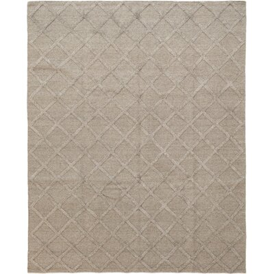 One-of-a-Kind Ellett Hand-Knotted Wool Brown Area Rug