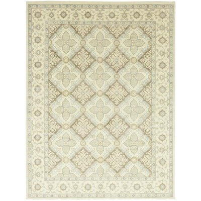 One-of-a-Kind Volane Hand-Knotted Wool Beige Area Rug