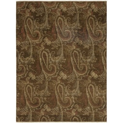 One-of-a-Kind Chery Hand-Knotted Wool Brown Area Rug