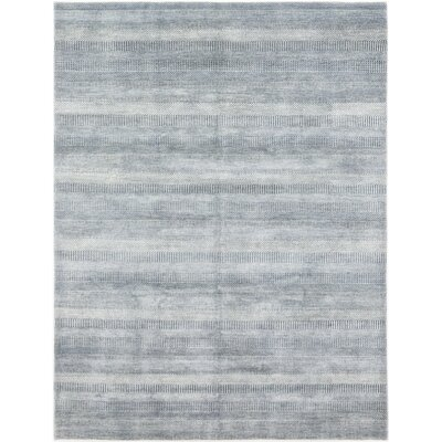One-of-a-Kind Diederich Hand-Knotted Wool Blue Area Rug