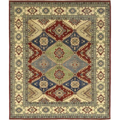 One-of-a-Kind Little Nell Hand-Knotted Wool Beige/Blue Area Rug