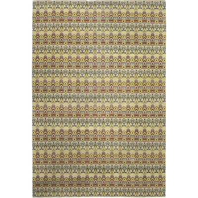 One-of-a-Kind Cote Hand-Knotted Wool Yellow/Green Area Rug
