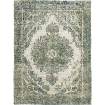 One-of-a-Kind Mile Hand-Knotted Wool Green Area Rug