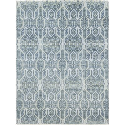 One-of-a-Kind Scotchmann Hand-Knotted Wool Blue Area Rug