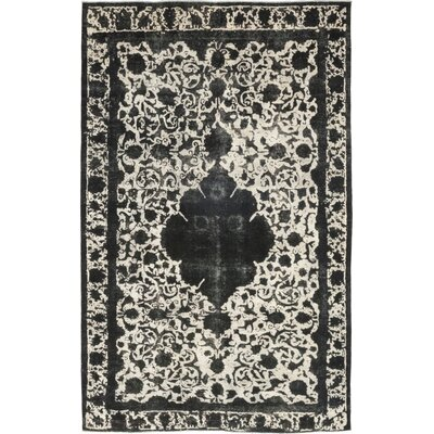 One-of-a-Kind Vislobokov Hand-Knotted Wool Black Area Rug