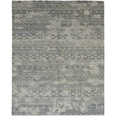 One-of-a-Kind Donahue Hand-Knotted Wool Gray Area Rug
