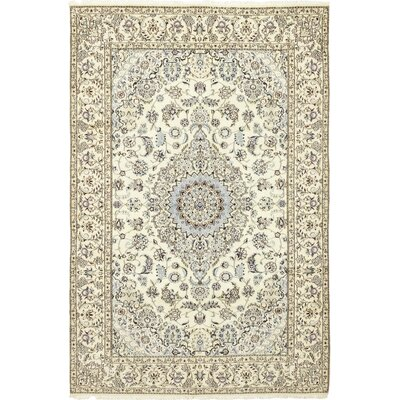One-of-a-Kind Cretien Hand-Knotted Wool Ivory Area Rug
