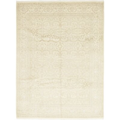 One-of-a-Kind Islemade Hand-Knotted Wool Beige Area Rug