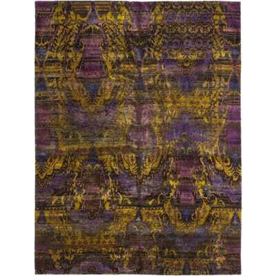 One-of-a-Kind Dopart Hand-Knotted Silk Purple Area Rug