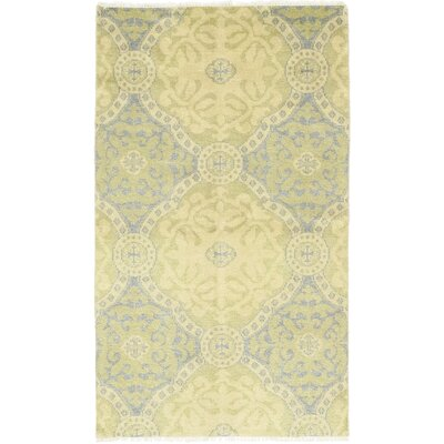 One-of-a-Kind Marchan Hand-Knotted Wool Yellow Area Rug