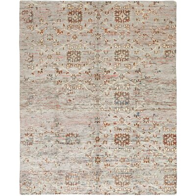 One-of-a-Kind Marchese Hand-Knotted Wool Gray/Brown Area Rug