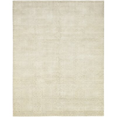 One-of-a-Kind Monroe Hand-Knotted Wool Beige Area Rug