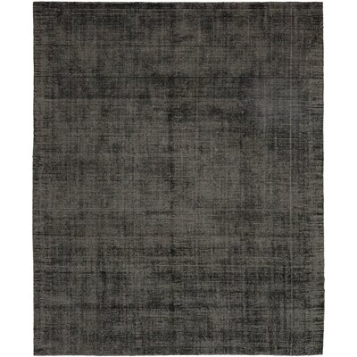 One-of-a-Kind Eita Hand-Knotted Black Area Rug