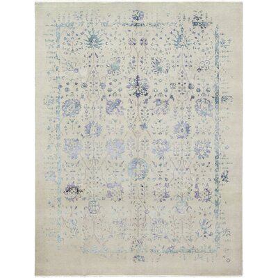 One-of-a-Kind Neville Hand-Knotted Wool Gray/Blue Area Rug