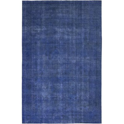 One-of-a-Kind Khatri Hand-Knotted Wool Blue Area Rug