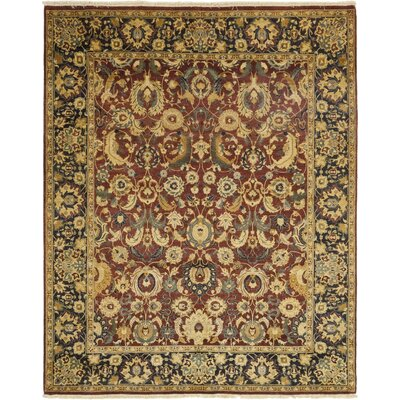 One-of-a-Kind Corrado Hand-Knotted Wool Red Area Rug