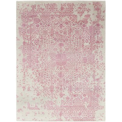 One-of-a-Kind Silverthorne Hand-Knotted Wool Pink Area Rug