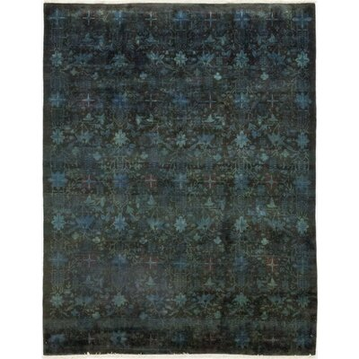 One-of-a-Kind Courter Hand-Knotted Wool Green Area Rug