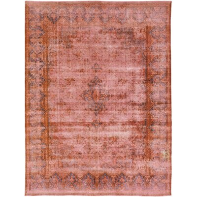 One-of-a-Kind Nokhu Crags Hand-Knotted Wool Pink Area Rug