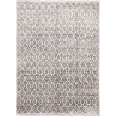 One-of-a-Kind Netherby Hand-Knotted Wool Gray/Purple Area Rug