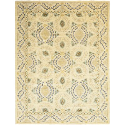 One-of-a-Kind Heilman Hand-Knotted Wool Beige Area Rug