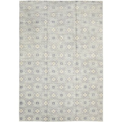One-of-a-Kind Marcotte Hand-Knotted Wool Blue Area Rug