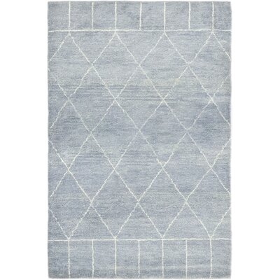 One-of-a-Kind Chelmsford Hand-Knotted Wool Blue Area Rug