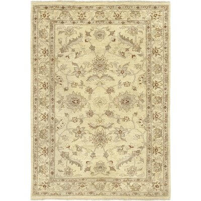 One-of-a-Kind Dionne Hand-Knotted Wool Beige Area Rug