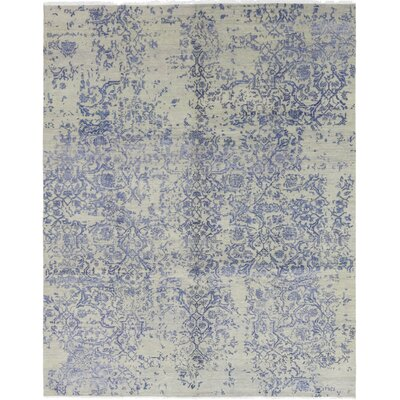 One-of-a-Kind Milburn Hand-Knotted Wool Blue Area Rug