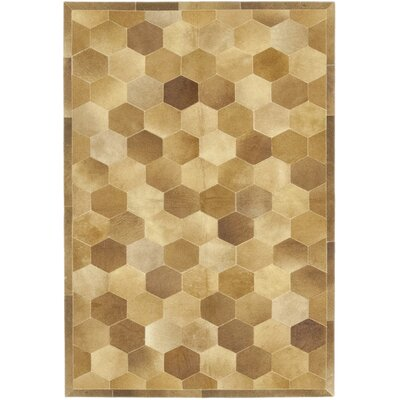 One-of-a-Kind Donelson Hand-Woven Cowhide Brown Area Rug
