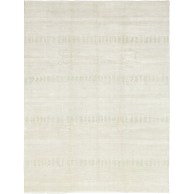 One-of-a-Kind Diederich Hand-Knotted Wool Ivory Area Rug