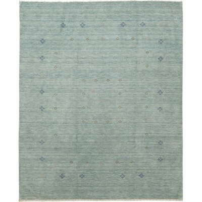 One-of-a-Kind Matahpi Hand-Knotted Wool Blue Area Rug
