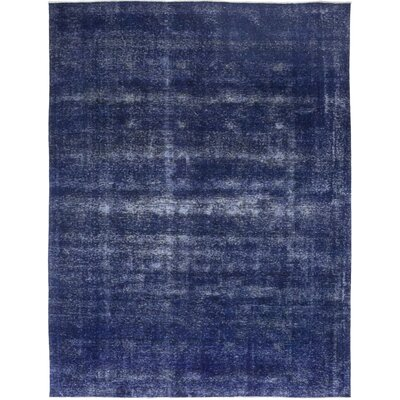 One-of-a-Kind Eisenhart Hand-Knotted Wool Blue Area Rug