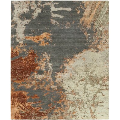 One-of-a-Kind Dunnock Hand-Knotted Wool Gray Area Rug