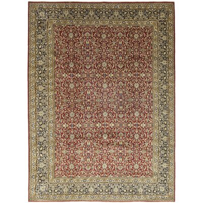 One-of-a-Kind Creissant Hand-Knotted Wool Red Area Rug