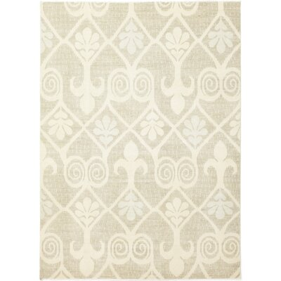 One-of-a-Kind Locksly Hand-Knotted Wool Beige Area Rug