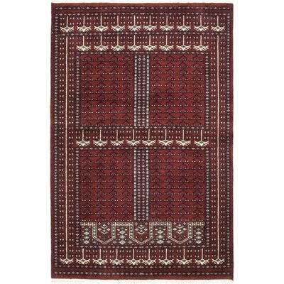 One-of-a-Kind McNairy Hand-Knotted Wool Red Area Rug