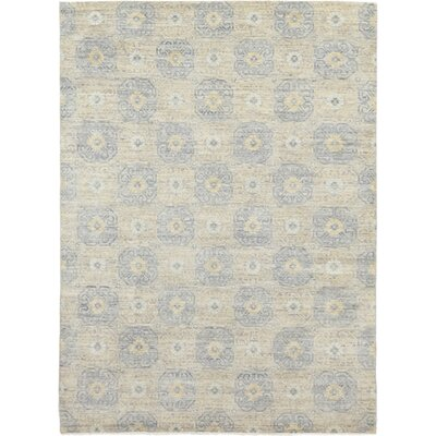 One-of-a-Kind Mullane Hand-Knotted Wool Blue Area Rug