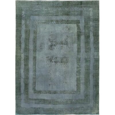 One-of-a-Kind Pollmann Hand-Knotted Wool Green Area Rug
