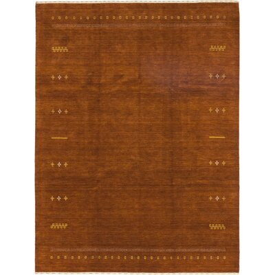 One-of-a-Kind Matahpi Hand-Knotted Wool Brown Area Rug