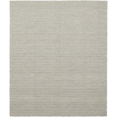 One-of-a-Kind Millikin Hand-Knotted Wool White/Gray Area Rug