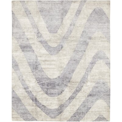 One-of-a-Kind Vera Hand-Knotted Wool Blue Area Rug