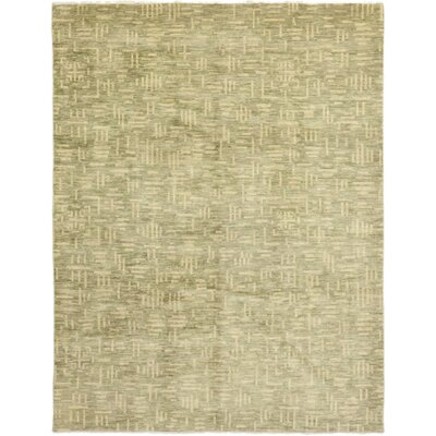 One-of-a-Kind Roellig Hand-Knotted Wool Beige Area Rug