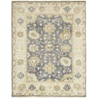 One-of-a-Kind Corrado Hand-Knotted Wool Blue Area Rug