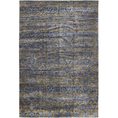One-of-a-Kind Marcucci Hand-Knotted Wool Gray/Blue Area Rug