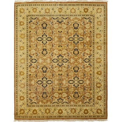 One-of-a-Kind Corrado Hand-Knotted Wool Brown Area Rug