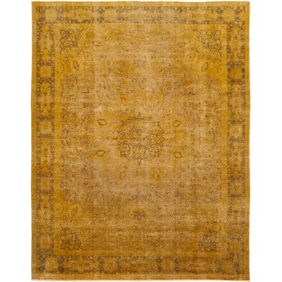 One-of-a-Kind Boska Hand-Knotted Wool Orange Area Rug
