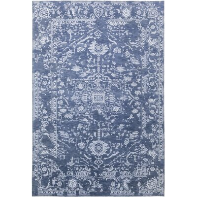 One-of-a-Kind Nielson Hand-Knotted Blue Area Rug