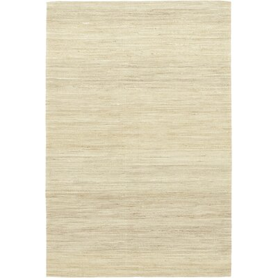 One-of-a-Kind Montaillou Hand-Knotted Wool Beige Area Rug