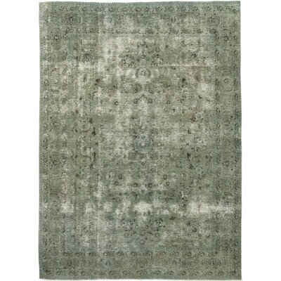 One-of-a-Kind Spangenberger Hand-Knotted Wool Green Area Rug